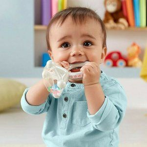 Fisher-Price Rock 'n Rattle Teether Ring, Baby Rat